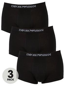 Emporio Armani Bodywear   Emporio Armani 3 Pack Cotton Trunks