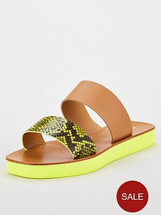 v-by-very-higgins-leather-sporty-neon-snake-sliders-snake