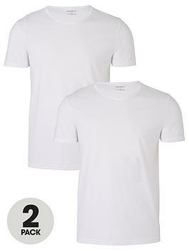 Emporio Armani Bodywear   Two Pack Bodywear T-Shirt - White