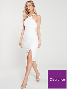 river-island-river-island-horn-trim-bodycon-dress--ivory