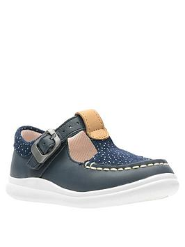Clarks Clarks Toddler Girls Cloud Rosa Navy Shoe Picture