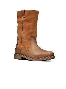 Clarks Clarks Girls Astrol Rise Boots - Tan Picture