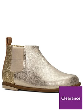 clarks-toddler-drew-fun-ankle-boots-gold