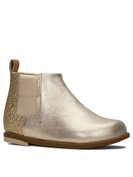 Clarks Clarks Toddler Drew Fun Ankle Boots - Gold Picture