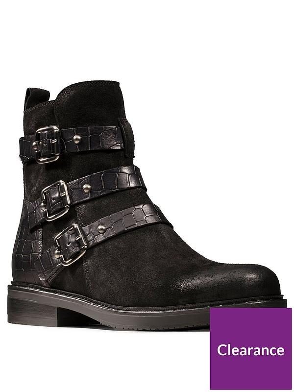 Jenna Biker Ankle Boot Black