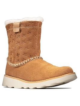 Clarks Clarks Girls Crown Piper Tan Boots - Tan Picture