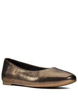 Clarks Clarks Chia Violet Ballerina - Bronze Metallic Picture