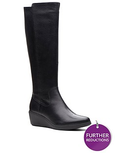 clarks-unstructured-un-tallara-esa-knee-high-boot-black