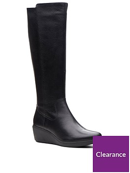 clarks-unstructured-un-tallara-esa-knee-high-boot-black