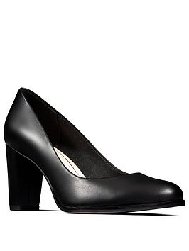 Clarks Clarks Kaylin Cara Heeled Shoes - Black Picture