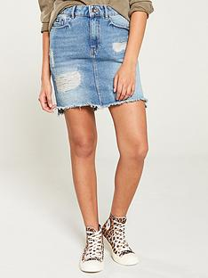 superdry-denim-mini-skirt-blue