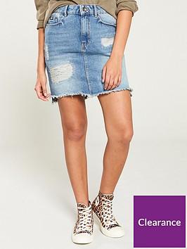superdry-denim-mini-skirt-blue