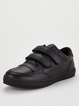 V by Very V By Very Leather Twin Strap Back To School Shoes - Black Picture