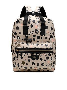radley-bubble-dog-large-zip-around-backpack-grey