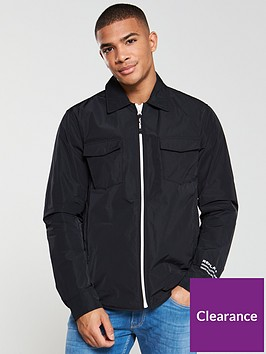 replay-lined-coach-jacket-black