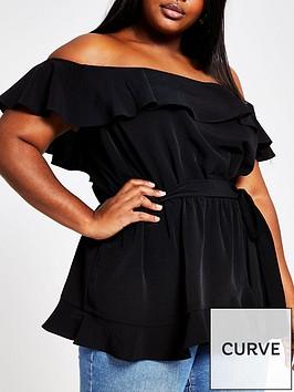 ri-plus-button-through-bardot-top--black