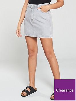 mango-5-pocket-denim-mini-skirt-grey