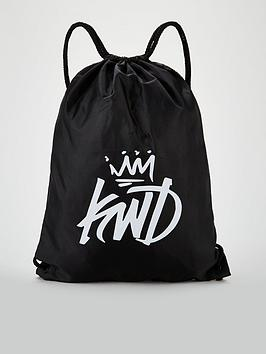kings-will-dream-frayes-drawstring-bag-black