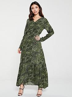 yas-shannennbspanimal-print-ruffle-dress-green