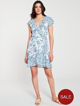 oasis-poplin-patched-ruffle-wrap-dress-multi