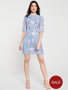 frock-and-frill-gillian-embroiderednbspfringe-dress-blue