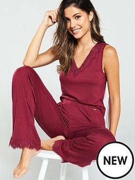 v-by-very-lace-trim-vest-amp-trouser-pyjama-set-berry