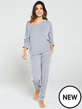 v-by-very-lace-trimnbsplounge-pj-set-grey-marl