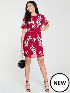 frock-and-frill-ginny-embellished-shift-dress-persian-red