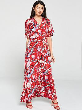 yas-oria-floral-printed-wrap-dress-print