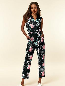 wallis-petite-oriental-floral-jumpsuit