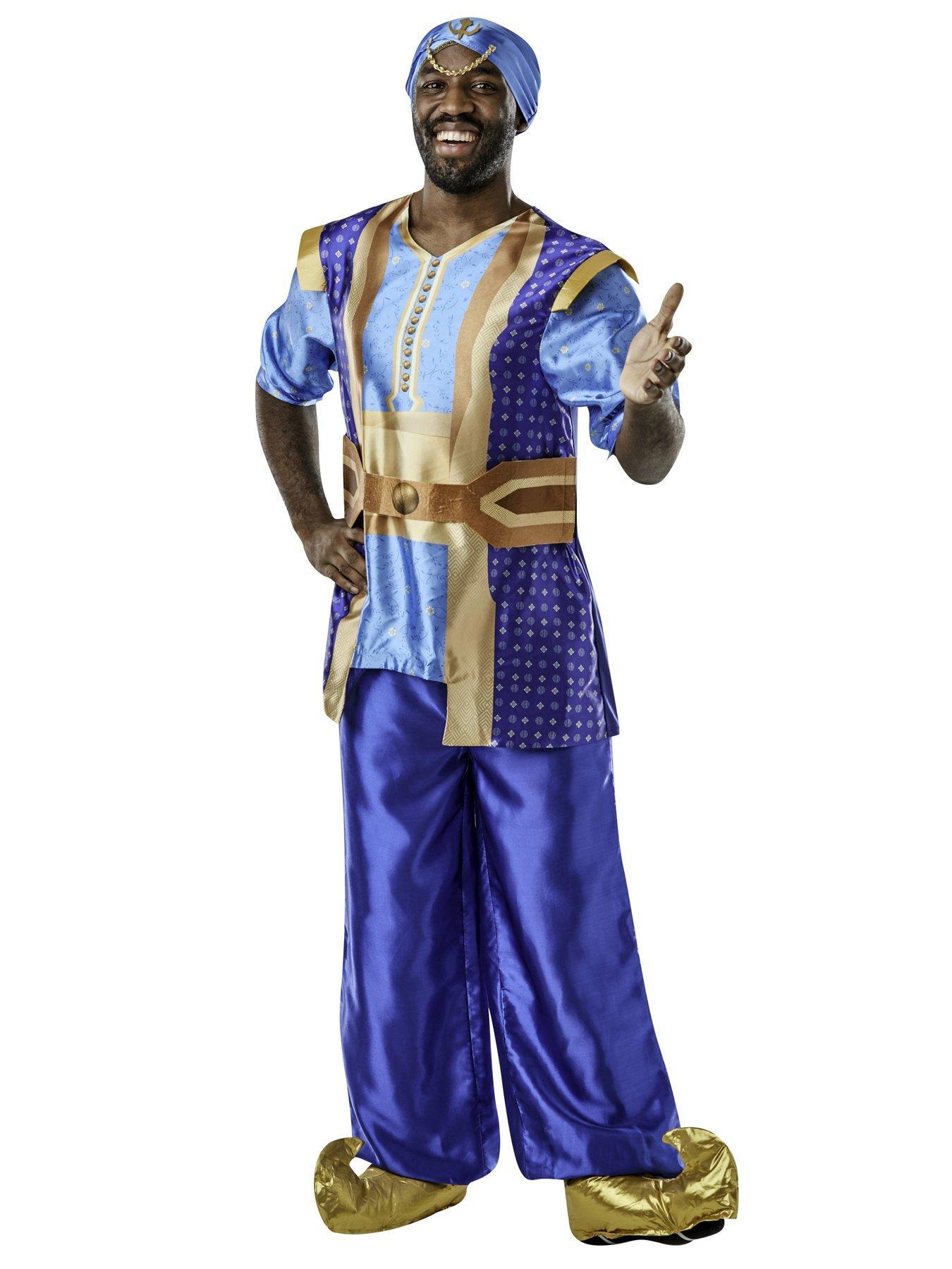 Adult Muscle Genie Costume 2 Sizes Fancy Dress Fairy Tale Party