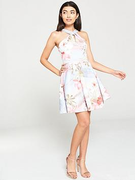 ted-baker-umerta-mint-chocchip-skater-dress-light-blue