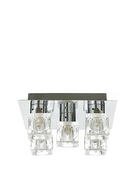 Very  5-Light Ice Cube Square Flush Ceiling Light
