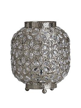 Very Yasmine Silver Brass Table Lamp Picture