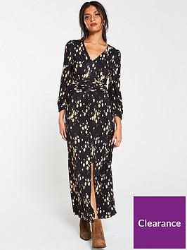 v-by-very-plisse-button-detail-maxi-dress-floral-print