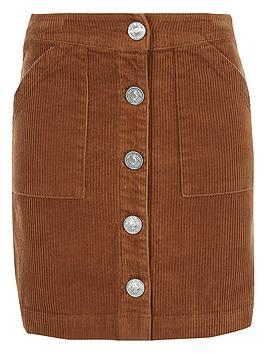 river-island-girls-cord-a-line-skirt-brown