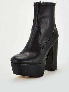 office-another-level-platform-ankle-boots-black
