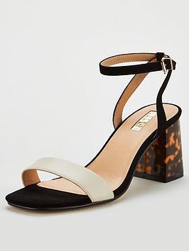 office-millions-heeled-sandals-blackwhite