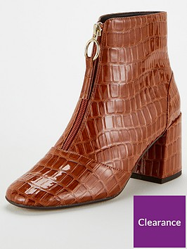 office-abir-front-zip-square-toe-60s-ankle-boots-tan