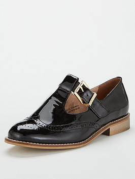 Office Office Fop Patent Mary Jane Flat Shoes - Black Picture