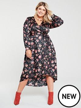 v-by-very-curve-jacquard-wrap-dress-floral-print
