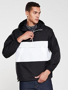 armani-exchange-logo-front-pocket-over-head-jacket-blackwhite