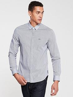 armani-exchange-fine-striped-shirt-blackwhite