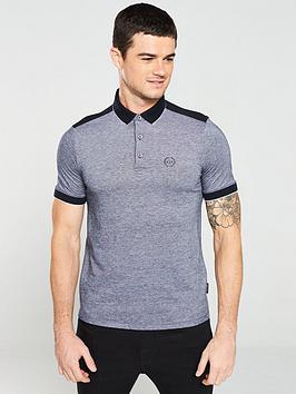armani-exchange-tipped-pique-polo-shirt-navy