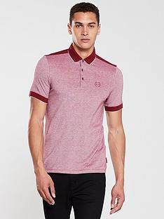 armani-exchange-tipped-collar-panelled-polo-shirt-burgundy