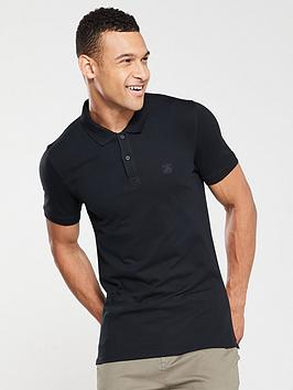 selected-homme-haro-short-sleeve-embroidered-polo-shirt-black