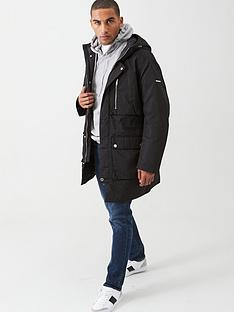 armani-exchange-hooded-parka-black