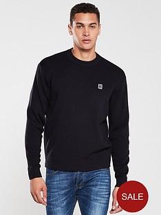 armani-exchange-knitted-crew-neck-jumper-navy