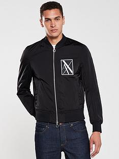 armani-exchange-reflective-logo-bomber-jacket-black