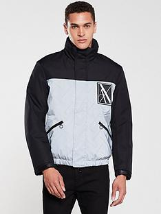 armani-exchange-reflective-contrast-padded-jacket-blacksilver